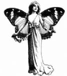 Winged Butterfly Lady Crafty Individuals Stamp (CI-108)